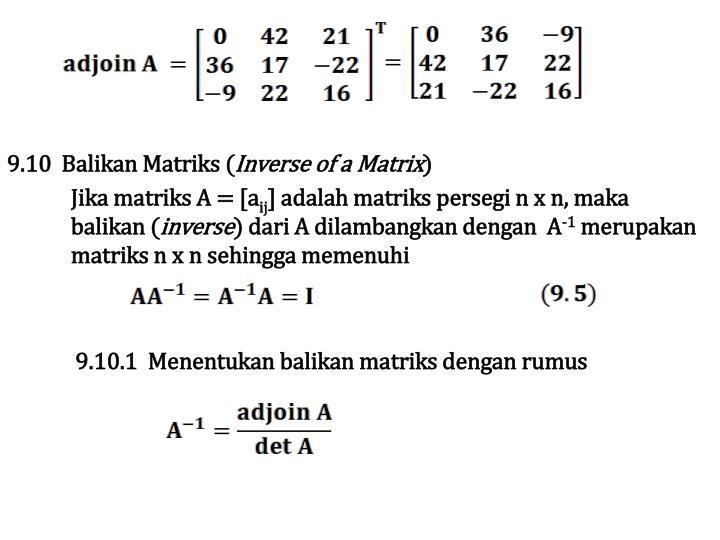 9.10  Balikan Matriks (