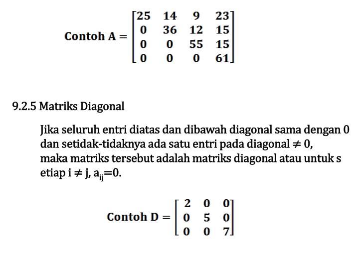 9.2.5 Matriks Diagonal