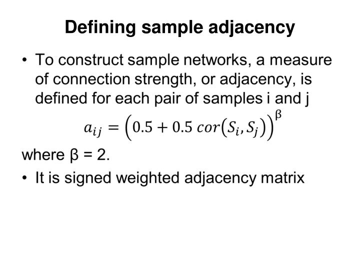 Defining sample adjacency