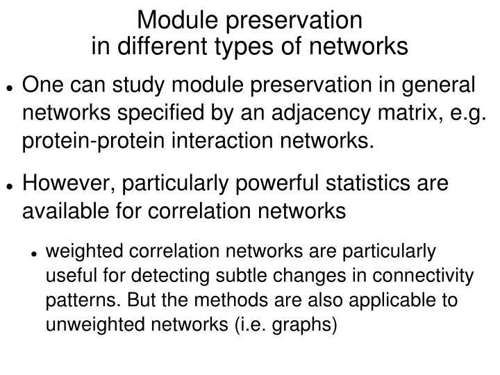 Module preservation