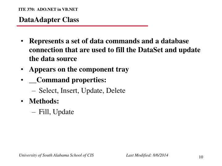 DataAdapter Class