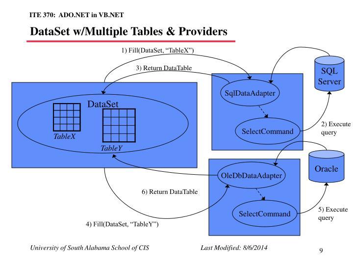 DataSet w/Multiple Tables & Providers