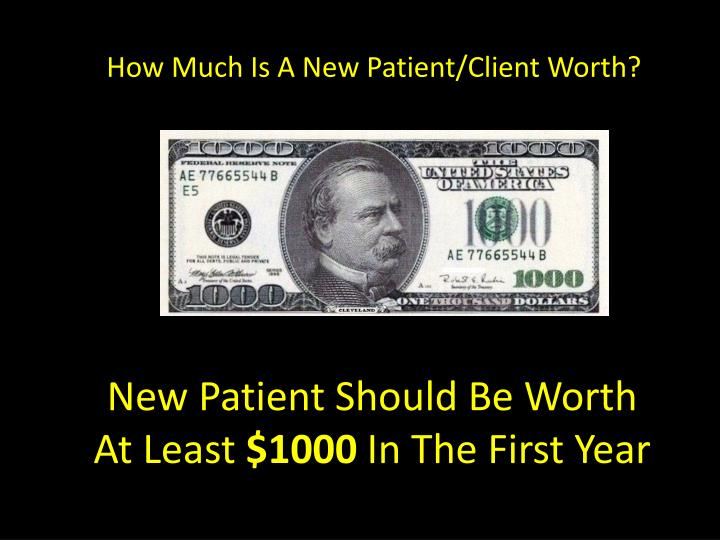 How Much Is A New Patient/Client Worth?