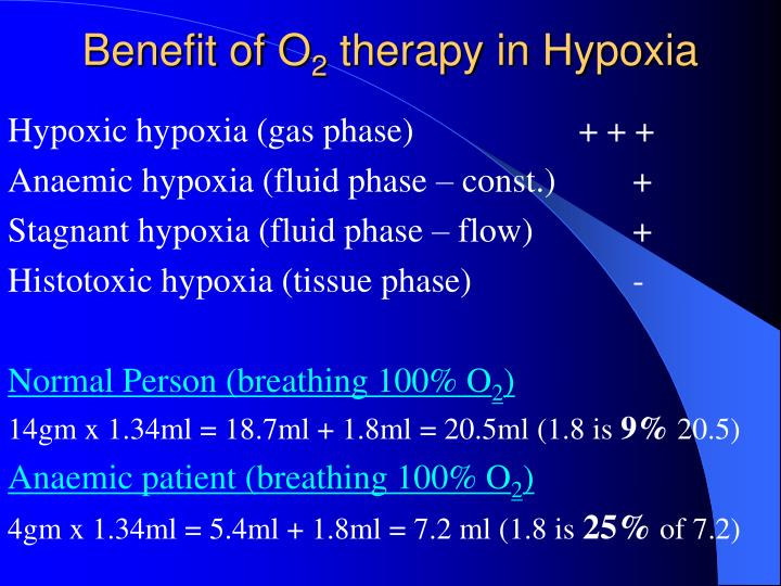 Benefit of O
