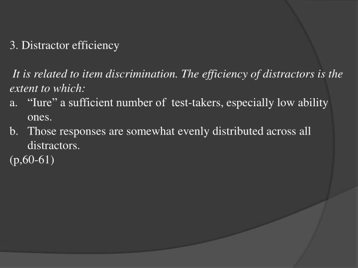 3. Distractor