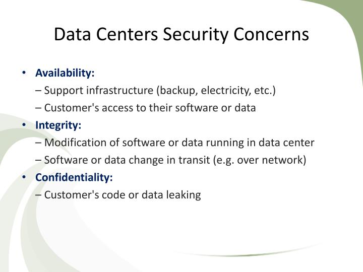 Data Centers Security Concerns