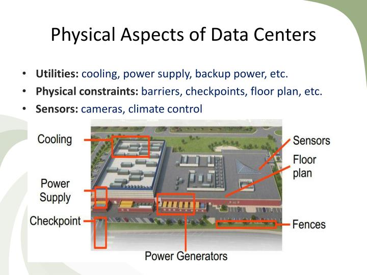 Physical Aspects of Data Centers