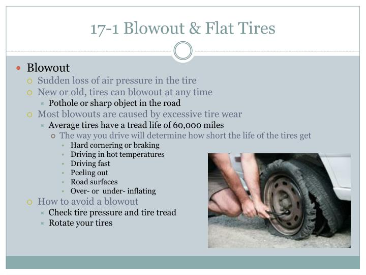 17 1 blowout flat tires