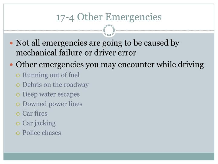 17-4 Other Emergencies