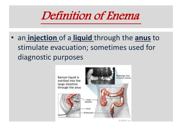 Definition of Enema