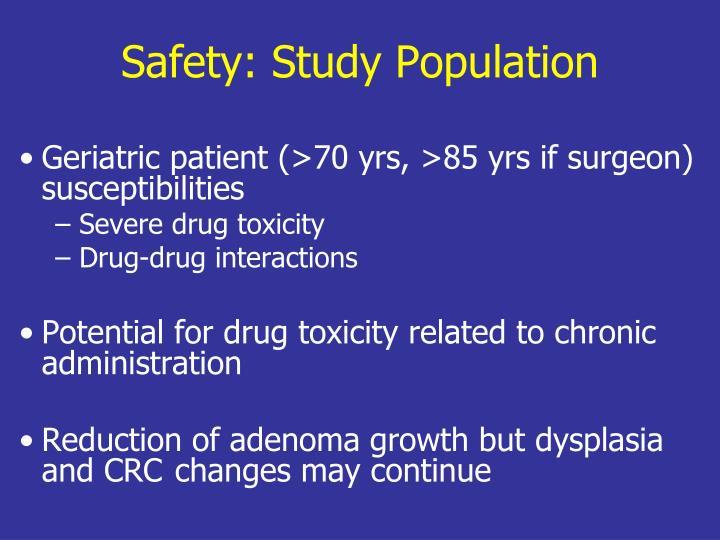 Safety: Study Population