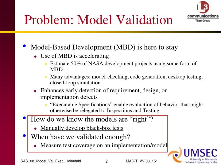 Problem model validation