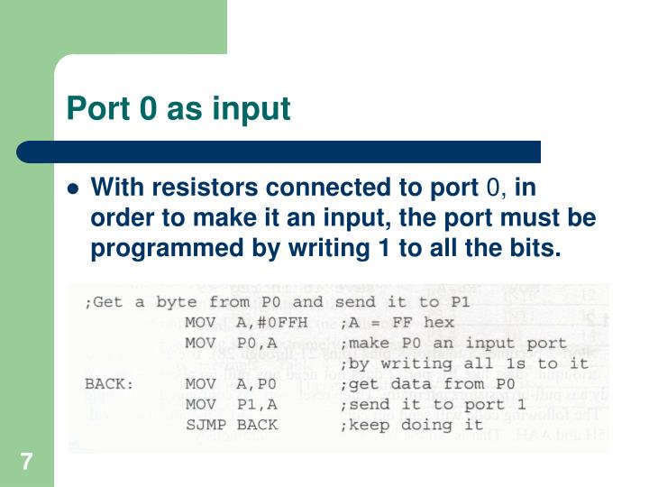 Port 0 as input