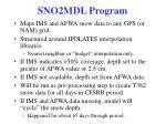 sno2mdl program