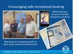 encouraging safe recreational boating