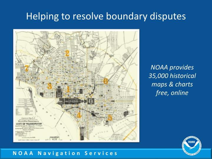Helping to resolve boundary disputes