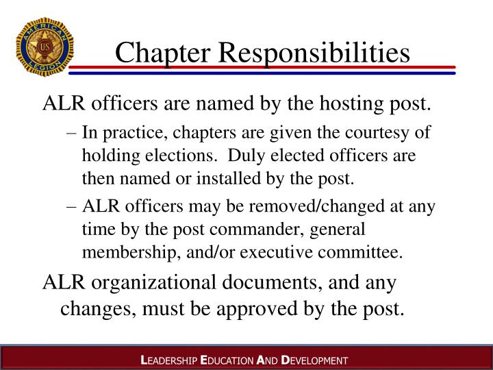 Chapter Responsibilities