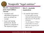 nonprofit legal entities