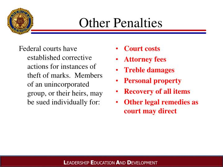 Other Penalties