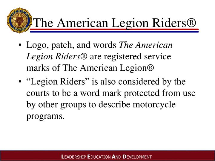 The American Legion Riders®