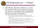 us trademark law 5 rules