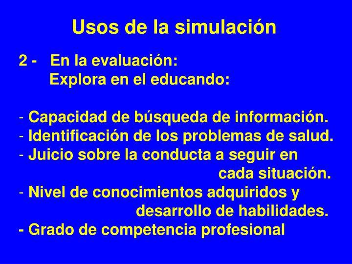 Usos de la simulación