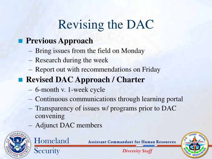 Revising the dac