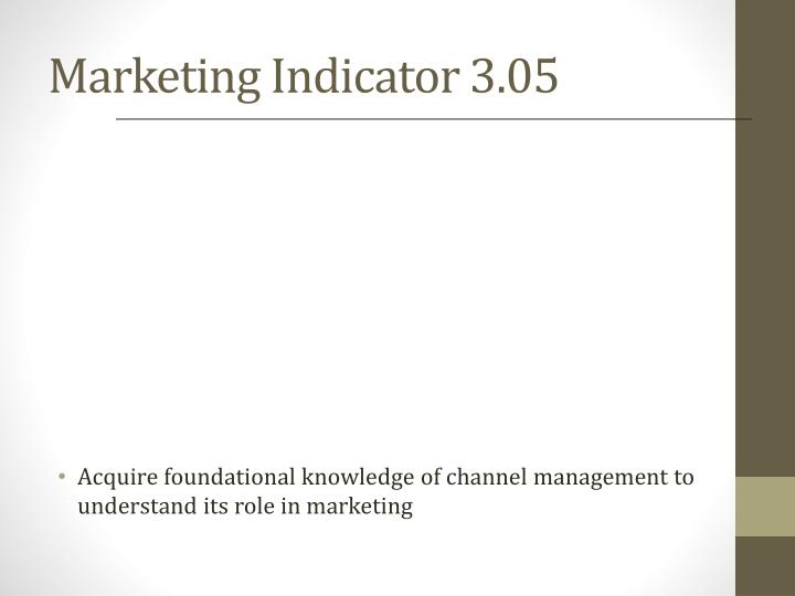 Marketing indicator 3 05