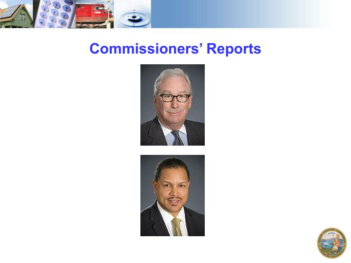 Commissioners' Reports