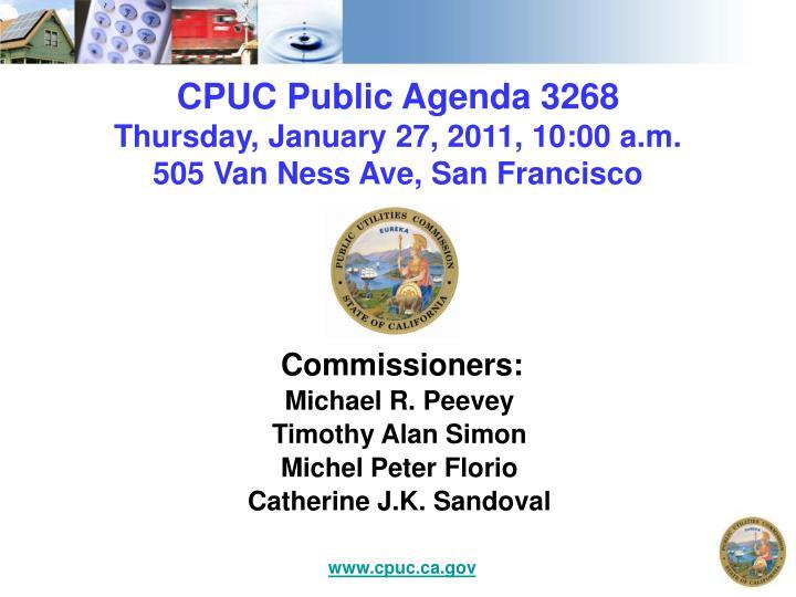 CPUC Public Agenda 3268
