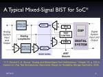 a typical mixed signal bist for soc
