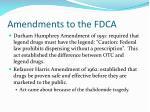 amendments to the fdca