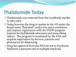 thalidomide today