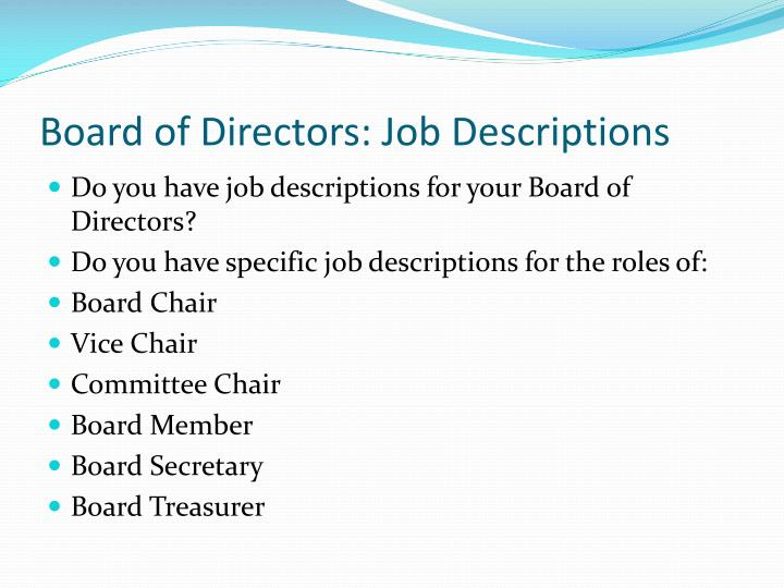 Ppt Non Profit Board Of Directors Powerpoint