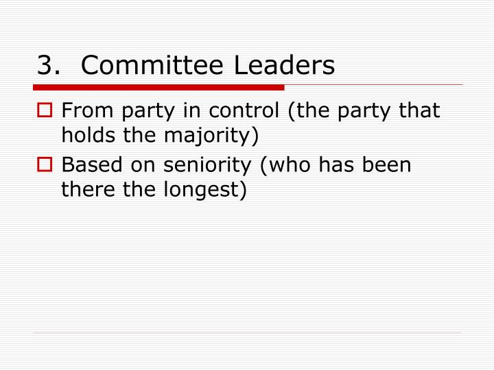 3.  Committee Leaders