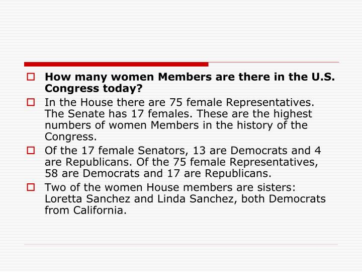 How many women Members are there in the U.S. Congress today?