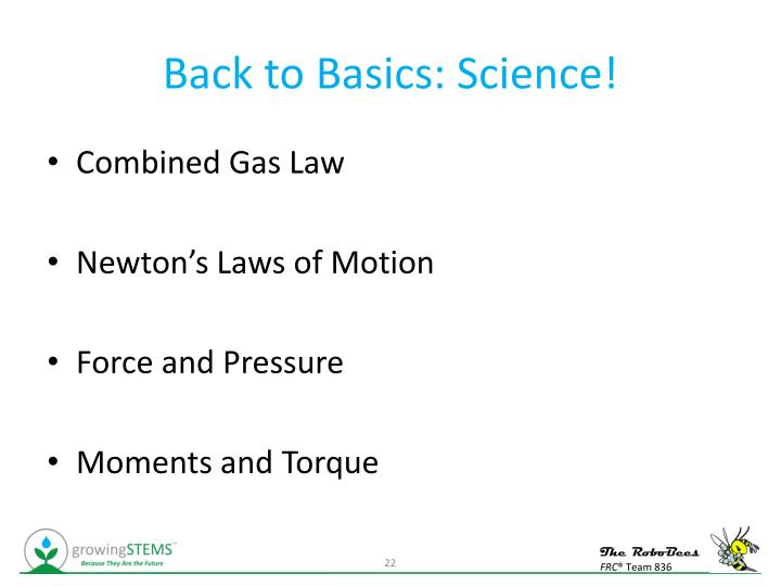 Back to Basics: Science!