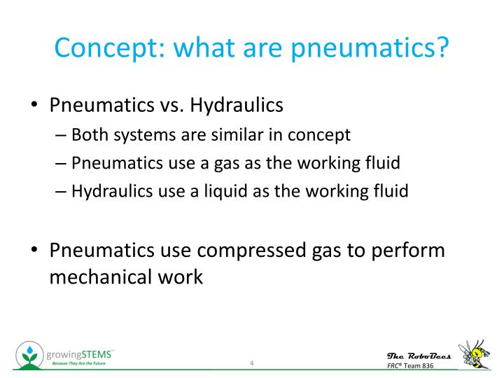 Concept: what are pneumatics?