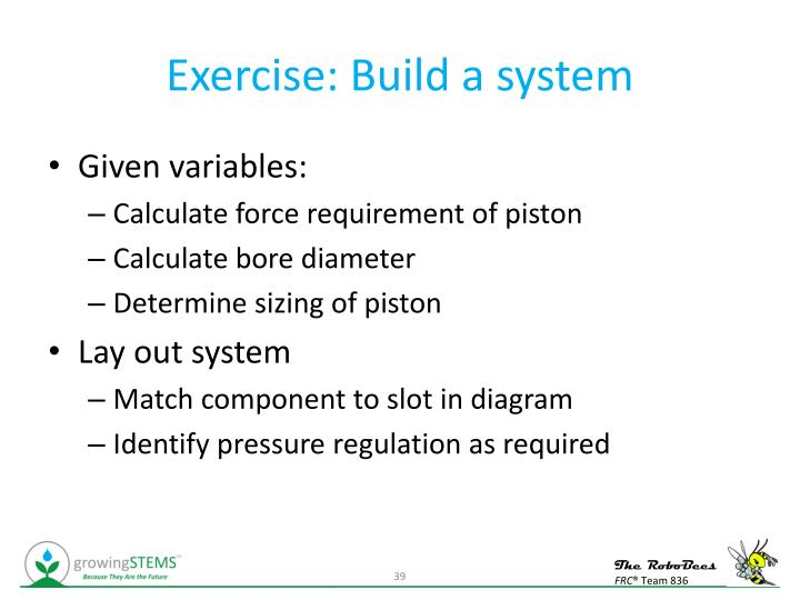Exercise: Build a system