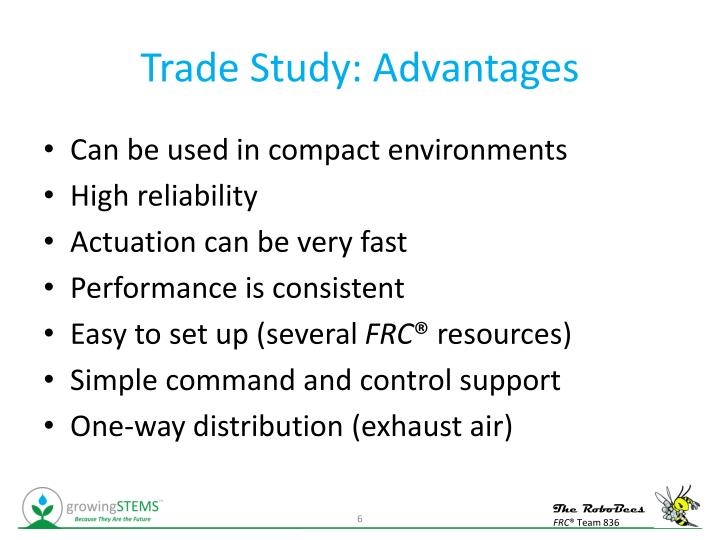 Trade Study: Advantages