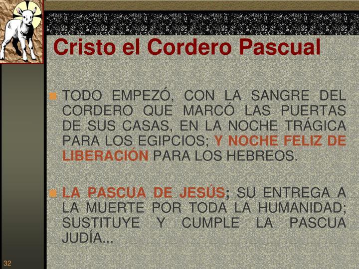 Cristo el Cordero Pascual