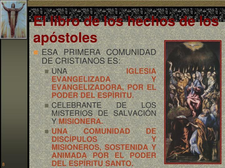 El libro de los hechos de los apóstoles