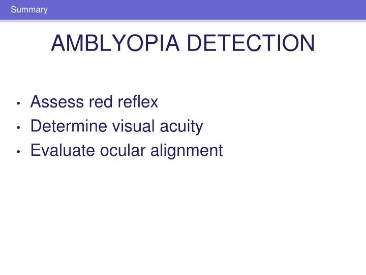 Assess red reflex