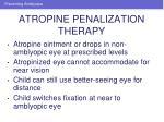 atropine penalization therapy