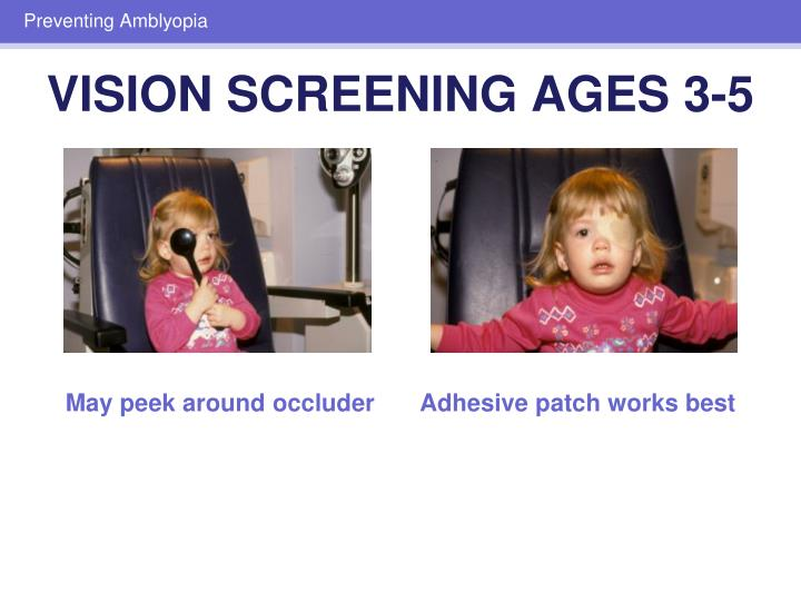VISION SCREENING AGES 3-5
