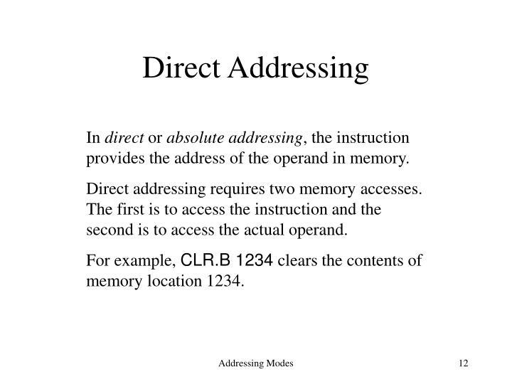 Direct Addressing