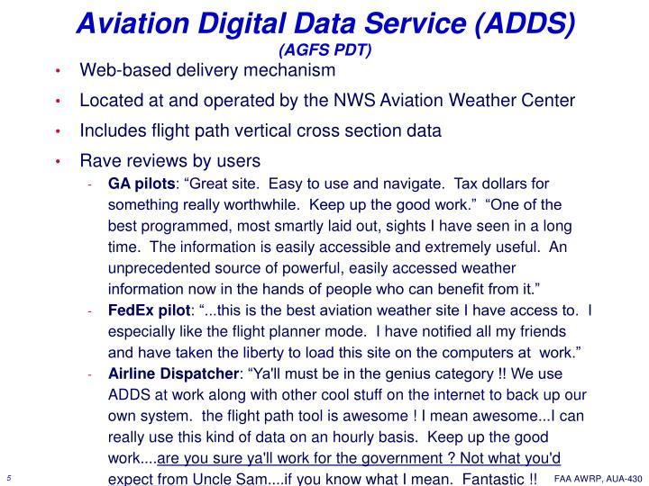 Aviation Digital Data Service (ADDS)