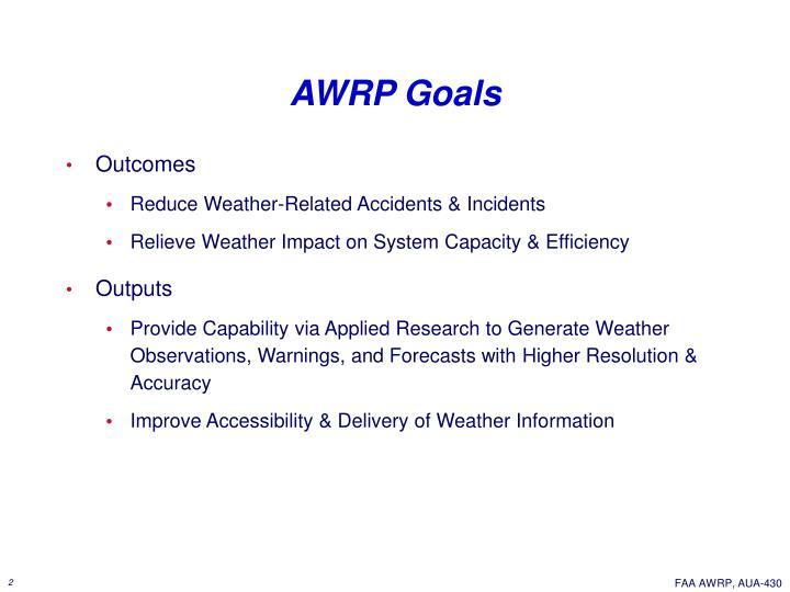 AWRP Goals