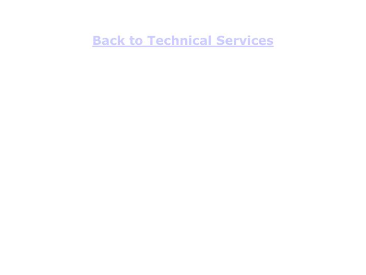 Back to Technical Services