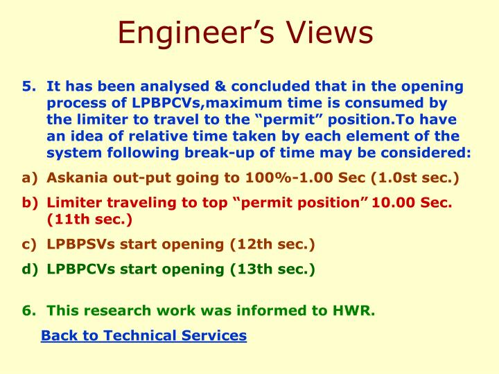 Engineer's Views
